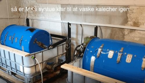 Vaskeanlæg til bådkalecher MKs
