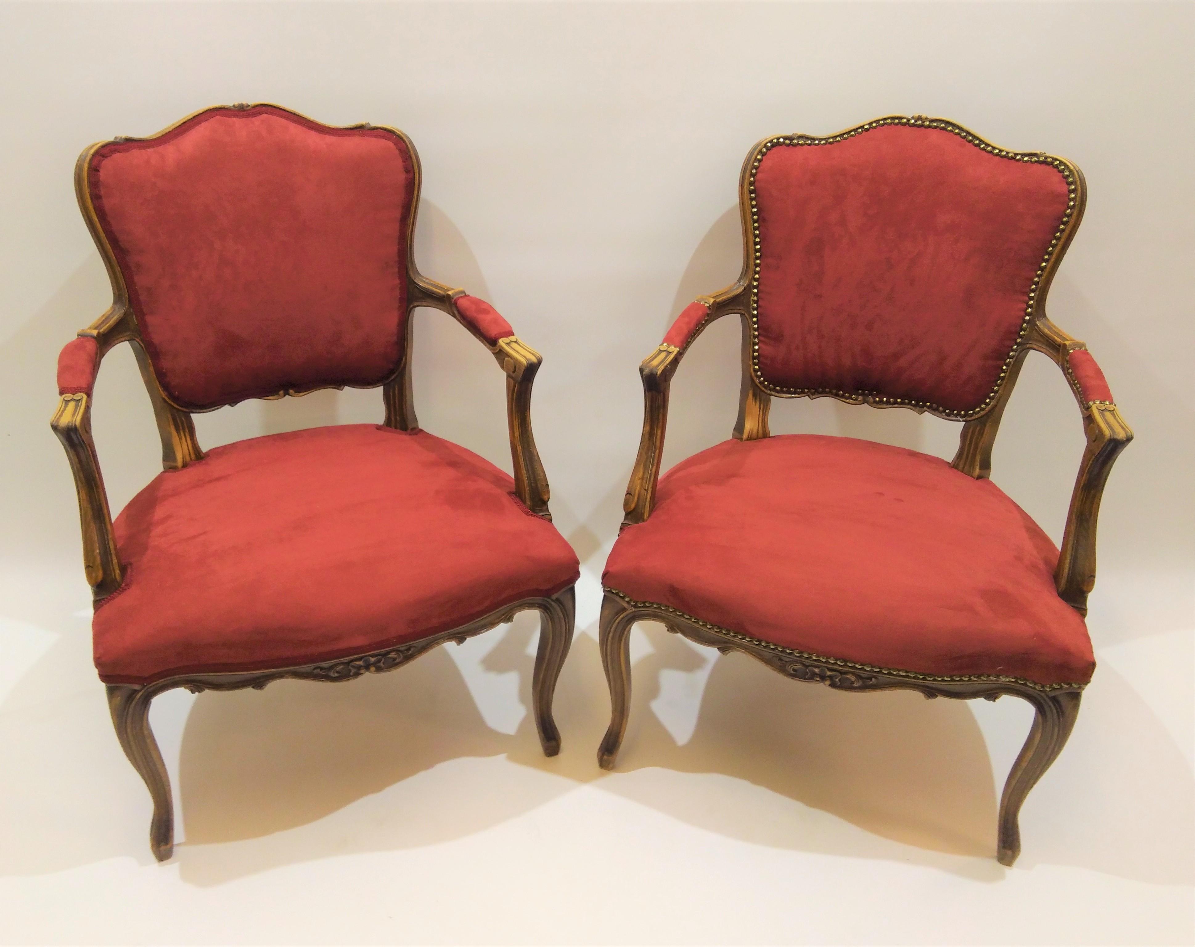 ældre stol med nyt betræk